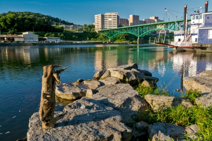 Shoreline of the Tennessee River in Knoxville